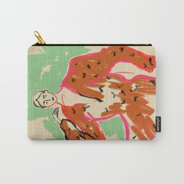 WOMAN IN A TERRACOTTA DRESS Carry-All Pouch