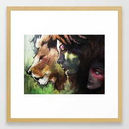 Rock, Paper, Knife Fight! Framed Art Print