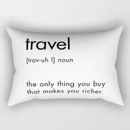 Travel Definition Rectangular Pillow