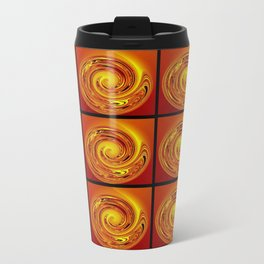 Abstract Collage Orange Art. Travel Mug