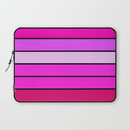 Fuchsia Pink Stripes Laptop Sleeve