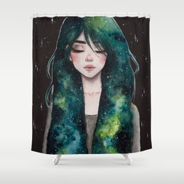 Galaxy hair series 3/4 Shower Curtain