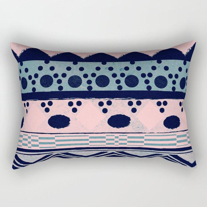 PASTEL NORDIC TRIBAL II Rectangular Pillow