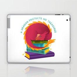 A Dragon Protects His Treasures (books) Laptop & iPad Skin