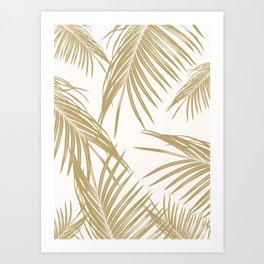 Gold Palm Leaves Dream #1 #tropical #decor #art #society6 Art Print