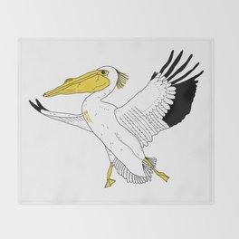 Petra the Pelican Throw Blanket