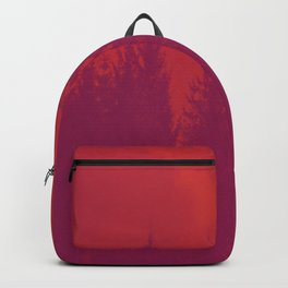 Purple Forest On Red Background #decor #society6 Backpack
