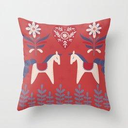 Swedish Christmas 2 Throw Pillow