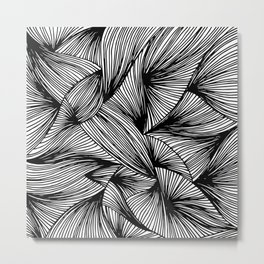 Abstract Digital Vector Black Ink Art Illustration Drawing Painting Doodle Pattern (P12 302) Metal Print