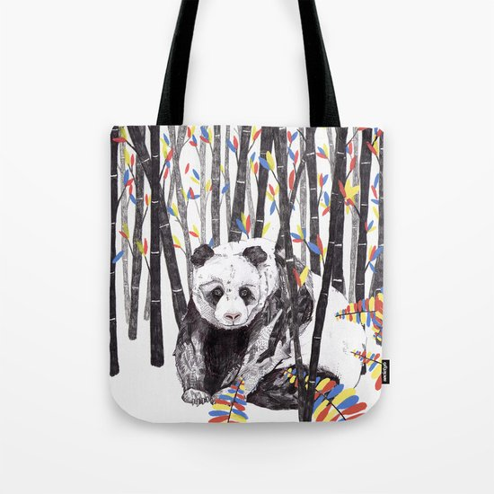 Panda Bear // Endangered Animals Tote Bag