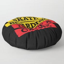 Skateboarding is not a crime Floor Pillow