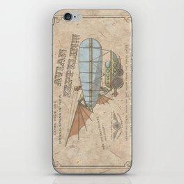 Avian Zeppelin Steampunk Poster iPhone Skin
