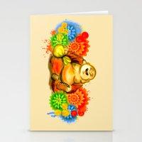 buddah Stationery Cards featuring Buddah by Adaildo Neto
