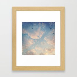 Tiny umbrellas Framed Art Print