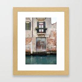 A venice door Framed Art Print