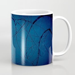 Pollock Inspired Blurred Blues Party - Corbin Henry Postmodernism Best Coffee Mug
