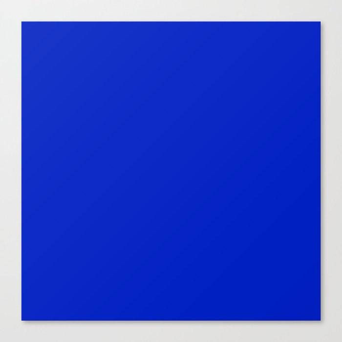 Solid Deep Cobalt Blue Color Leinwanddruck