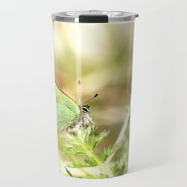 Green Butterfly In The Forest #decor #society6 Travel Mug