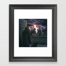 Majesty on a Rooftop Framed Art Print
