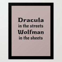 Dracula in the Streets Art Print