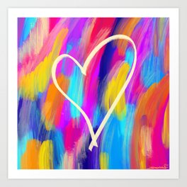 Brushed Heart Art Print