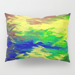 Peacock. Mimosa Inspired Primary Colors. Peacock. Pillow Sham