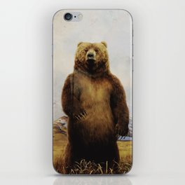 Beary Scared iPhone Skin