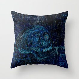 The Skull and the Key Throw Pillow