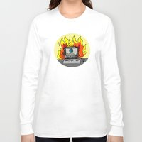 internet Long Sleeve T-shirts featuring Internet Exploder by illarterate