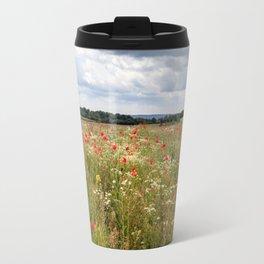 Panoramic Poppies Travel Mug