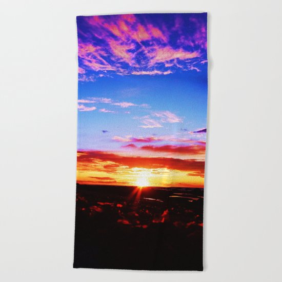 Easter Egg Sky Beach Towel