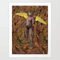 African Angel Art Print