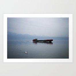 Coming into port Art Print