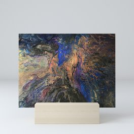 Galaxy Dance - Cosmos Celestial Universe and Space Inspired Abstract Fluid Art Mini Art Print