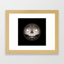 Skull medallion Framed Art Print