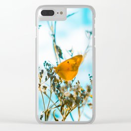 Indian summer Butterfly Clear iPhone Case
