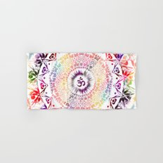Radiant Om Mandala Hand & Bath Towel