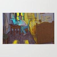 van gogh Area & Throw Rugs featuring Vincent van Gogh by bytahsinkaya
