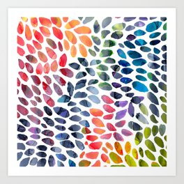 Colorful Painted Drops Art Print