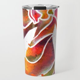 Colorful Angel Acrylic Abstract Painting by Saribelle Rodriguez Travel Mug