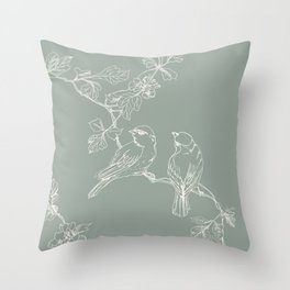 Song Birds on a Wire  Throw Pillow