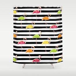 Citrus Flamingo Shower Curtain
