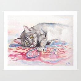 Mr. Cat Art Print