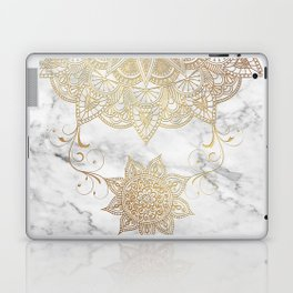 Mandala - Golden drop Laptop & iPad Skin