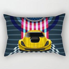 The Yellow King Corvette C7 Rectangular Pillow