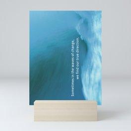 Motivational Encouragement Overcome Greeting Card Mini Art Print
