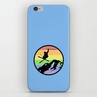 skiing iPhone & iPod Skins featuring skiing 2 by Paul Simms