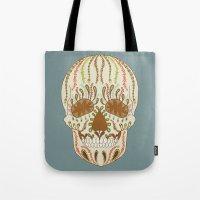 calavera Tote Bags featuring CALAVERA by Nora