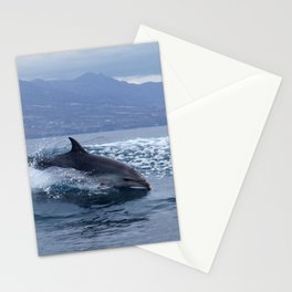 Wild and free bottlenose dolphin Stationery Cards