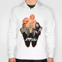wrestling Hoodies featuring Attitude Wrestling  by RJ Artworks